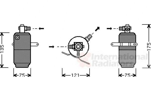 Filtre déshydratant, climatisation - VAN WEZEL - 3000D293