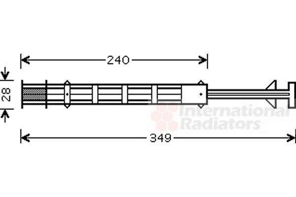 Filtre déshydratant, climatisation - VAN WEZEL - 3000D358