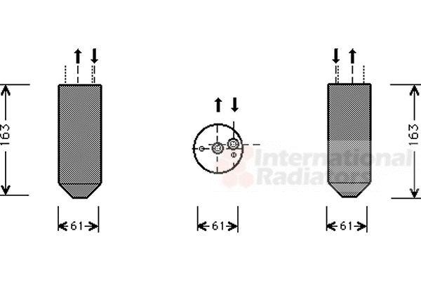 Filtre déshydratant, climatisation - VAN WEZEL - 3000D362