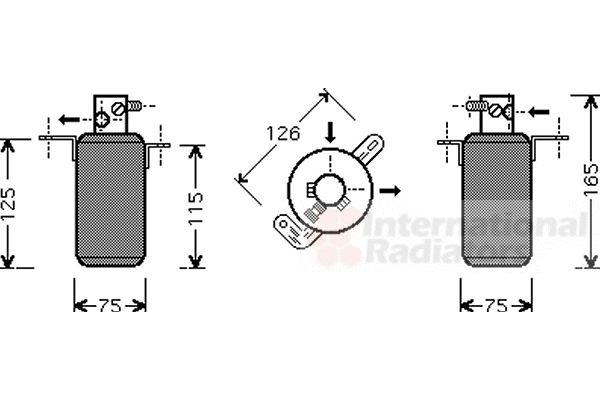 Filtre déshydratant, climatisation - VAN WEZEL - 3000D373