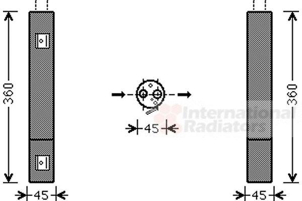 Filtre déshydratant, climatisation - VAN WEZEL - 3000D471