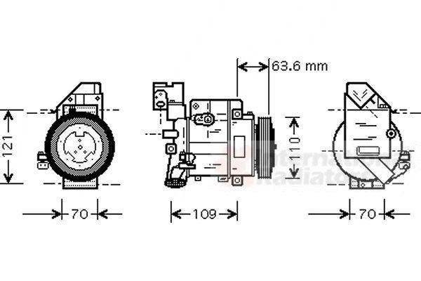 Compresseur, climatisation - VWA - 88VWA3000K075