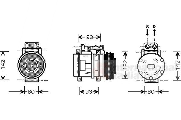 Compresseur, climatisation - VAN WEZEL - 3000K083