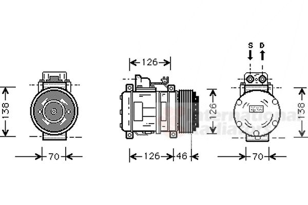 Compresseur, climatisation - VAN WEZEL - 3000K097