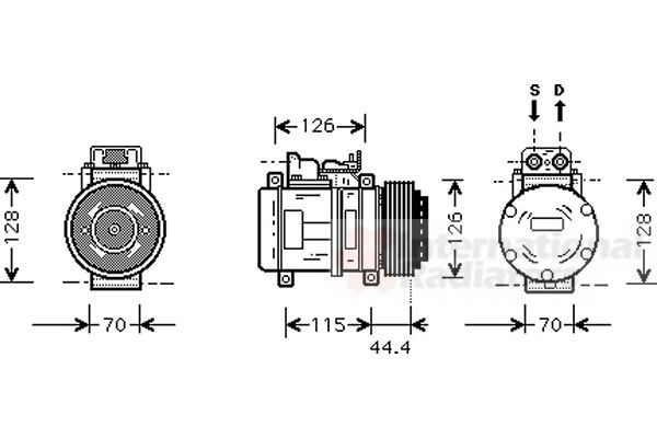 Compresseur, climatisation - VAN WEZEL - 3000K116