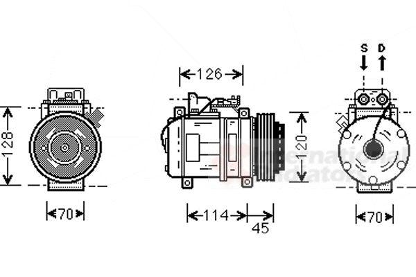Compresseur, climatisation - VWA - 88VWA3000K278