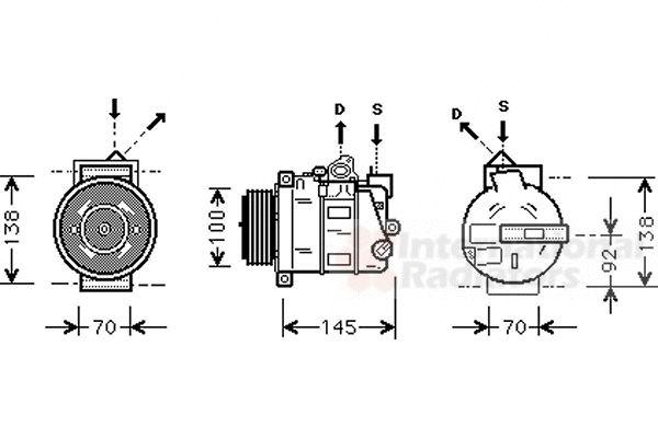 Compresseur, climatisation - VWA - 88VWA3000K344