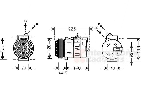 Compresseur, climatisation - VAN WEZEL - 3000K369