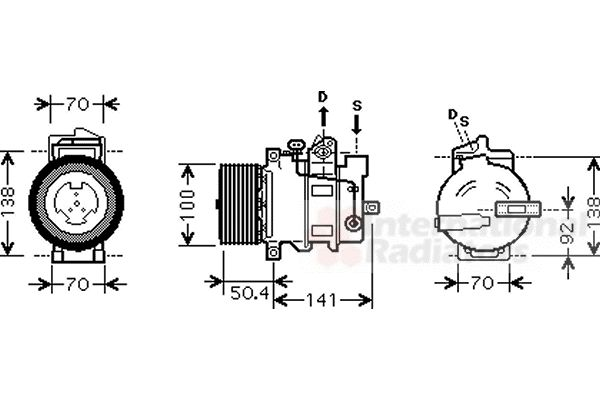 Compresseur, climatisation - VAN WEZEL - 3000K431