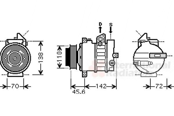 Compresseur, climatisation - VWA - 88VWA3000K438