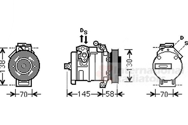 Compresseur, climatisation - VAN WEZEL - 3000K494