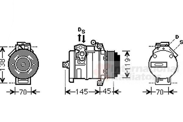 Compresseur, climatisation - VAN WEZEL - 3000K530