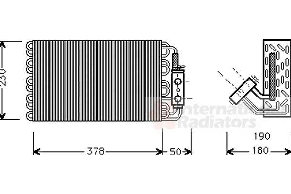 Evaporateur climatisation - VAN WEZEL - 3000V001
