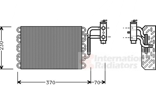 Evaporateur climatisation - VAN WEZEL - 3000V002