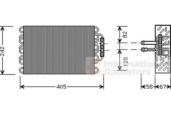Evaporateur climatisation - VAN WEZEL - 3000V008