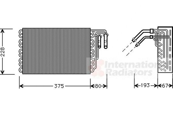 Evaporateur climatisation - VAN WEZEL - 3000V020