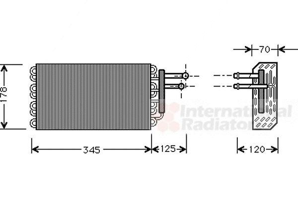 Evaporateur climatisation - VAN WEZEL - 3000V049