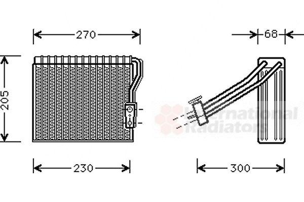 Evaporateur climatisation - VAN WEZEL - 3000V051