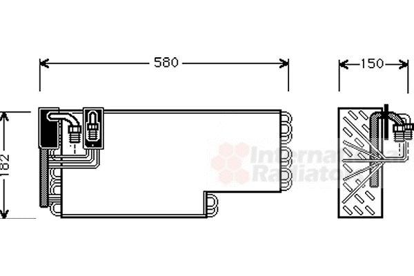 Evaporateur climatisation - VAN WEZEL - 3000V269