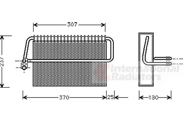 Evaporateur climatisation - VAN WEZEL - 3000V272