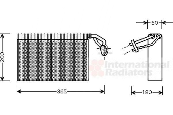 Evaporateur climatisation - VAN WEZEL - 3000V317