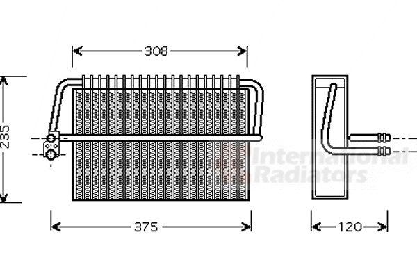 Evaporateur climatisation - VAN WEZEL - 3000V326