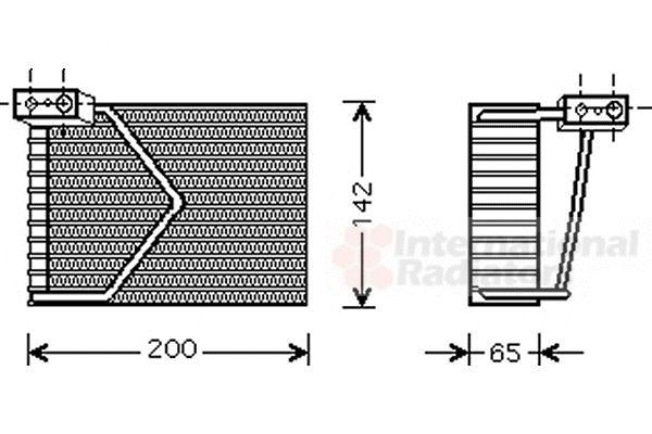 Evaporateur climatisation - VAN WEZEL - 3000V328
