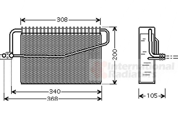 Evaporateur climatisation - VAN WEZEL - 3000V381