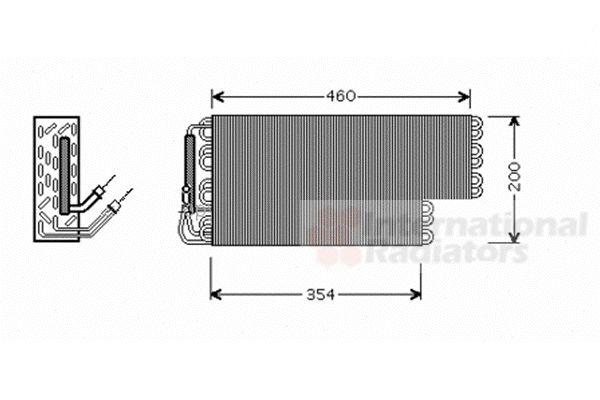 Evaporateur climatisation - VAN WEZEL - 3000V384