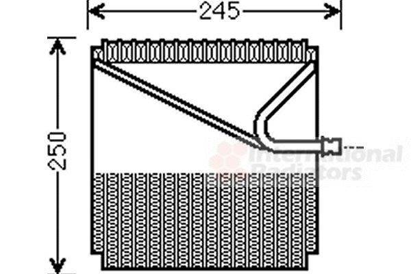 Evaporateur climatisation - VAN WEZEL - 3000V454