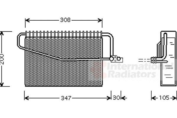 Evaporateur climatisation - VAN WEZEL - 3000V455
