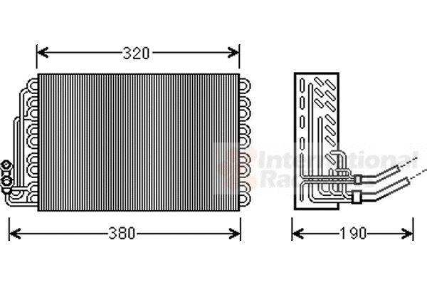 Evaporateur climatisation - VAN WEZEL - 3000V462