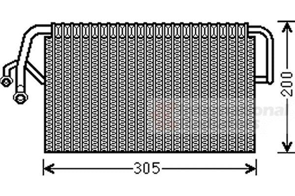 Evaporateur climatisation - VAN WEZEL - 3000V486