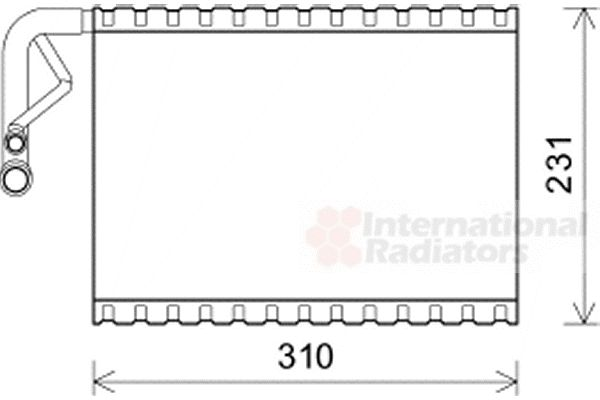 Evaporateur climatisation - VAN WEZEL - 3000V544