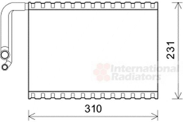 Evaporateur climatisation - VAN WEZEL - 3000V545
