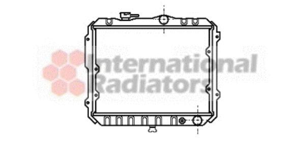 Radiateur, refroidissement du moteur - VAN WEZEL - 32002007