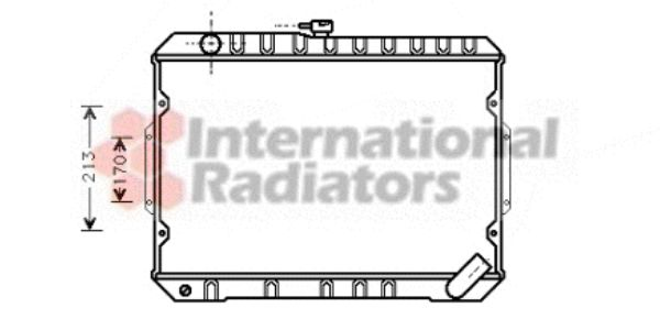 Radiateur, refroidissement du moteur - VAN WEZEL - 32002027