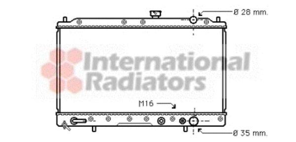 Radiateur, refroidissement du moteur - VAN WEZEL - 32002030