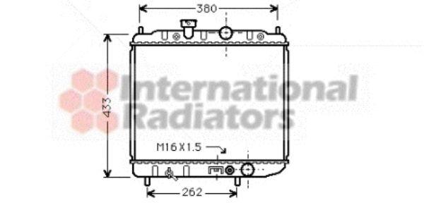 Radiateur, refroidissement du moteur - VAN WEZEL - 32002036