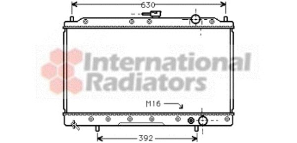 Radiateur, refroidissement du moteur - VAN WEZEL - 32002043