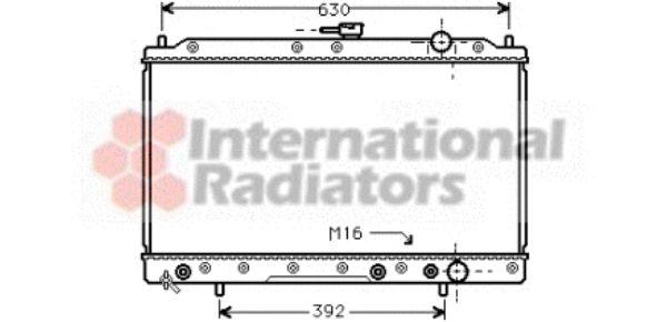 Radiateur, refroidissement du moteur - VAN WEZEL - 32002044