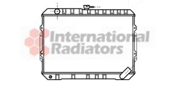 Radiateur, refroidissement du moteur - VAN WEZEL - 32002049