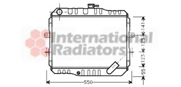 Radiateur, refroidissement du moteur - VAN WEZEL - 32002061
