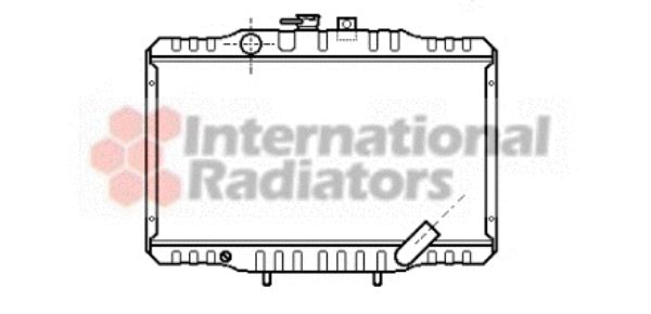 Radiateur, refroidissement du moteur - VAN WEZEL - 32002062