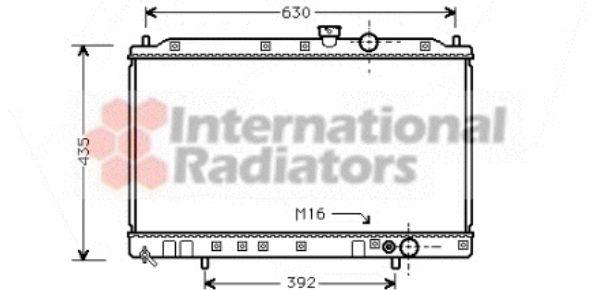 Radiateur, refroidissement du moteur - VAN WEZEL - 32002064