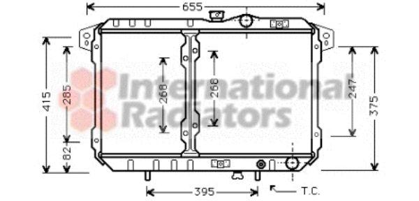 Radiateur, refroidissement du moteur - VAN WEZEL - 32002065