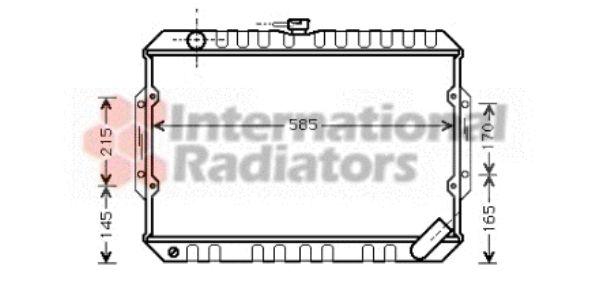 Radiateur, refroidissement du moteur - VAN WEZEL - 32002066