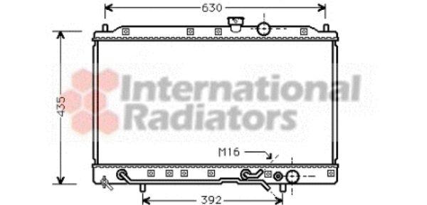 Radiateur, refroidissement du moteur - VAN WEZEL - 32002078