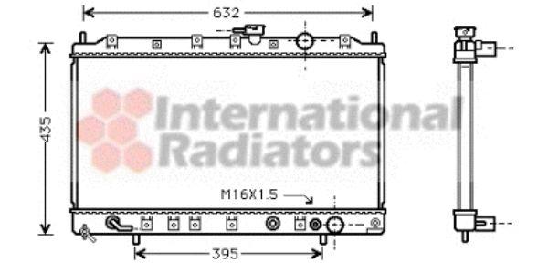Radiateur, refroidissement du moteur - VAN WEZEL - 32002081