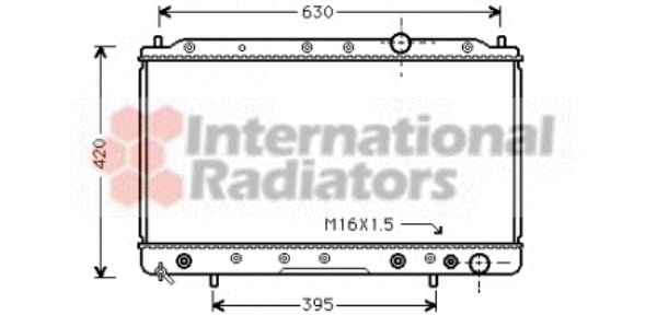 Radiateur, refroidissement du moteur - VAN WEZEL - 32002083